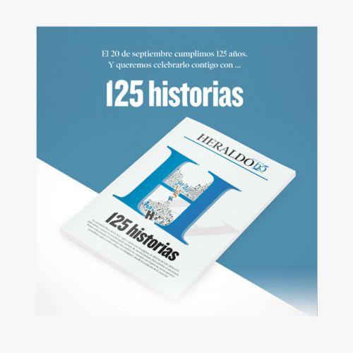 Libro especial  125 historias publicadas por Heraldo de Aragón
