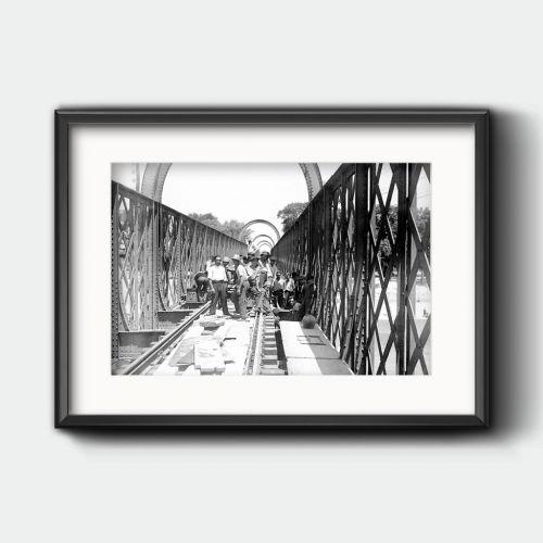 Obras en las vías del ferrocarril