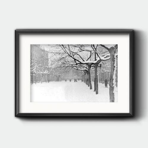 Nieve en el paseo Independencia