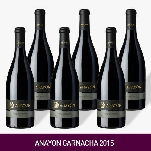 VINO ANAYON GARNACHA 2015, BODEGAS GRANDES VINOSDE UVA GARNACHA [Precio por 1 botella: 14.83€]