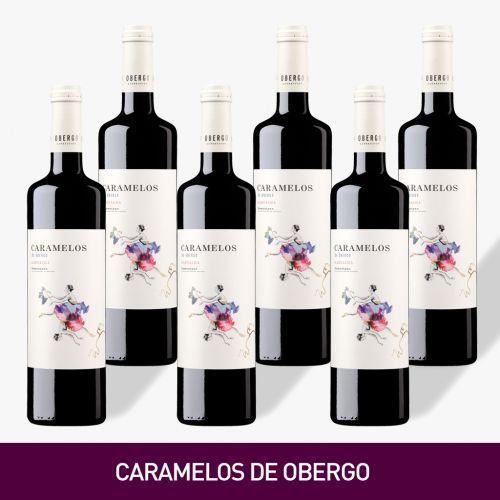 VINO CARAMELOS DE OBERGO, BODEGAOBERGO DE UVA GARNACHA  [Precio por 1 botella: 6€]