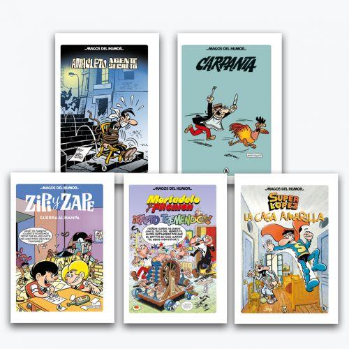 Colección libros MAGOS DEL HUMOR del 1 al 5