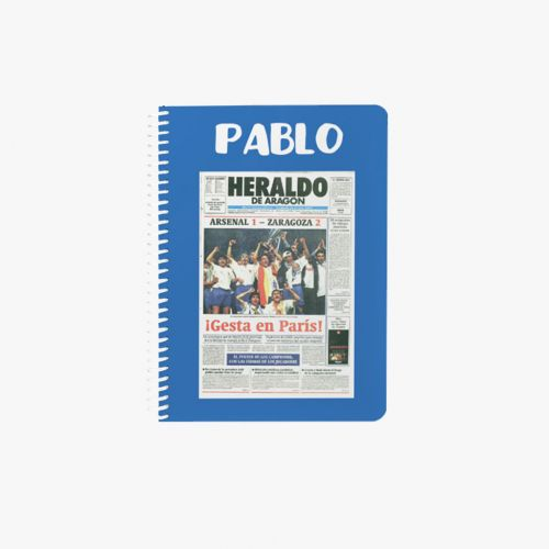 CUADERNO A5  PORTADA VICTORIA RAEL ZARAGOZA PARÍS