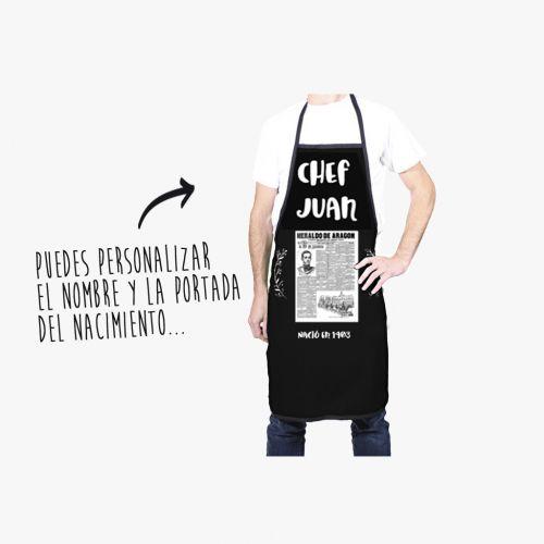 DELANTAL CHEF CON NOMBRE Y PORTADA