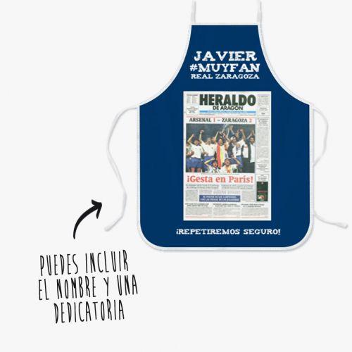 Delantal  Real Zaragoza Portada Victoria Recopa París