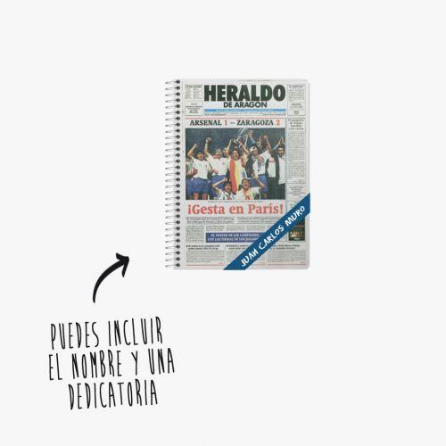 Cuaderno A5  con la victoria del Real Zaragoza en París