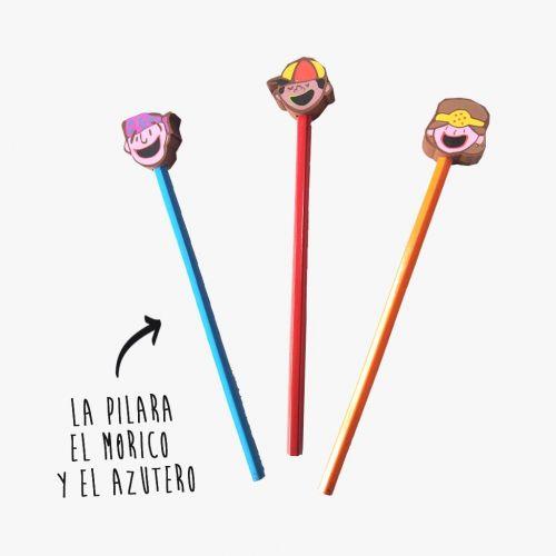 Lápices de los  cabezudos de Zaragoza
