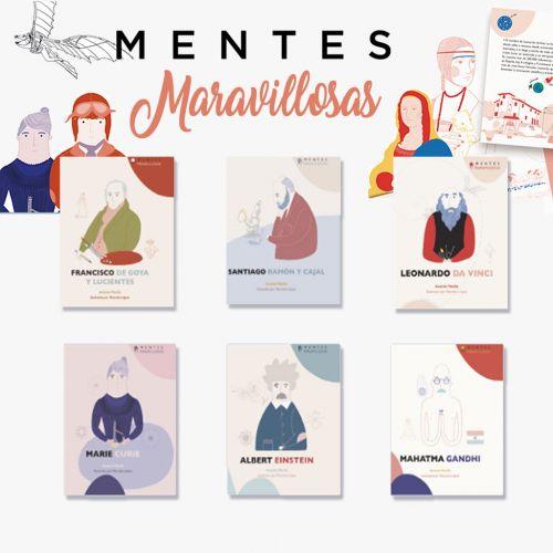 Colección 6 libros MENTES MARAVILLOSAS