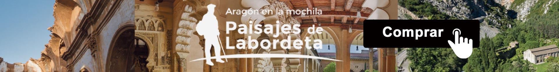 Colección de cuatro libros que muestran la pasión de José Antonio Labordeta por Aragón